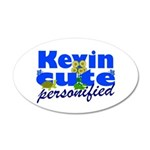 Cute Kevin 38.5 x 24.5 Oval Wall Peel