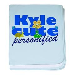 Cute Kyle baby blanket