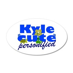 Cute Kyle 38.5 x 24.5 Oval Wall Peel