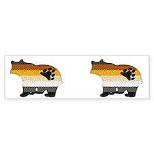 BEAR W/PRIDE colors-2images- Bumper Bumper Sticker