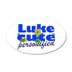 Cute Luke 38.5 x 24.5 Oval Wall Peel