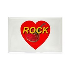 Love Rock Rectangle Magnet