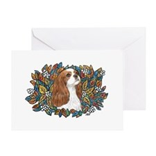 AutumnLeaves-Cavalier (Bl) Greeting Card