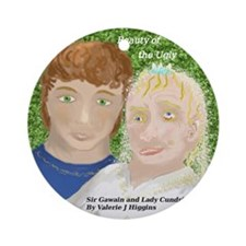 Sir Gawain and Lady Cundrie Ornament (Round)
