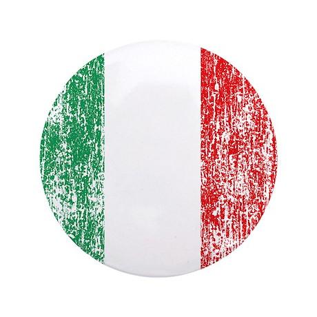 """Vintage Italian Flag 3.5"""" Button"""