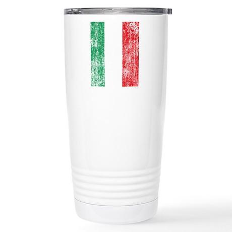 Vintage Italian Flag Stainless Steel Travel Mug