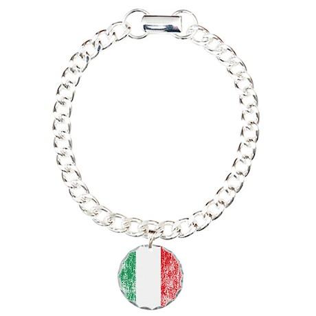 Vintage Italian Flag Charm Bracelet, One Charm