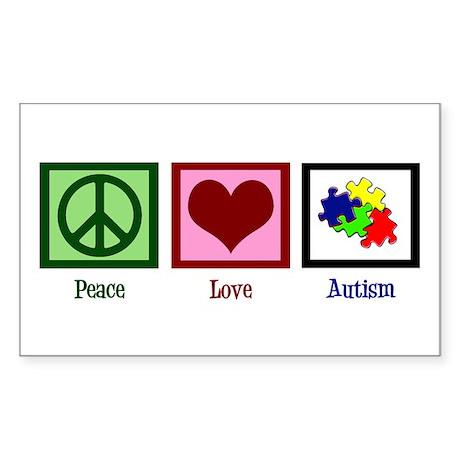 Autism Puzzle Sticker (Rectangle)