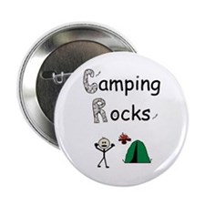 """CAMPING ROCKS 2.25"""" Button (100 pack)"""
