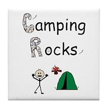 CAMPING ROCKS Tile Coaster