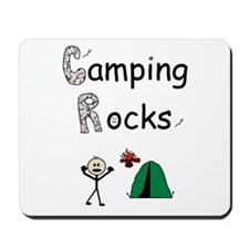 CAMPING ROCKS Mousepad