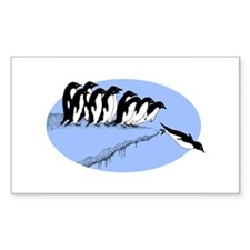 Funny Penguins Rectangle Decal