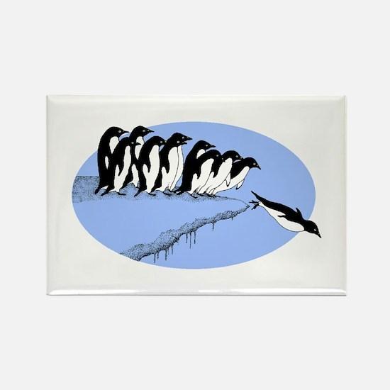 Funny Penguins Rectangle Magnet