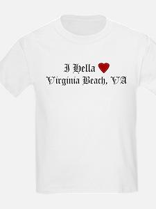 Hella Love Virginia Beach Kids T-Shirt