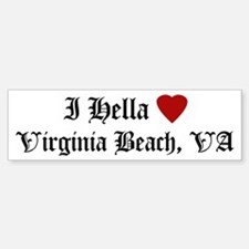 Hella Love Virginia Beach Bumper Bumper Bumper Sticker
