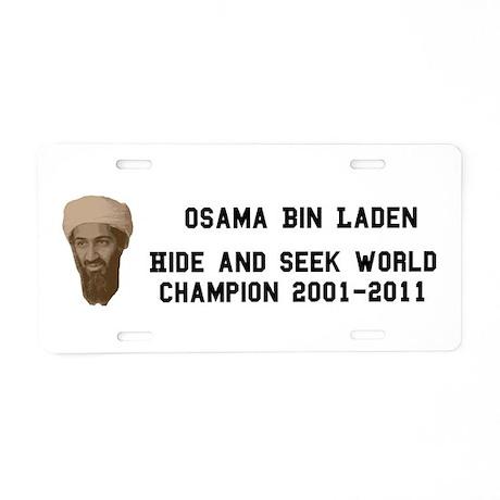 World Hide and Seek Champion Aluminum License Plat