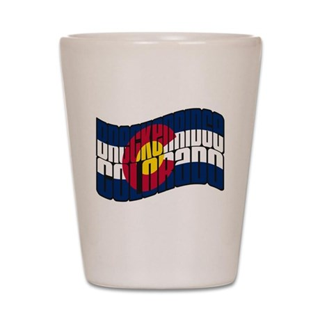 Breckenridge Colorado Flag Shot Glass