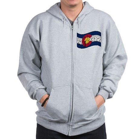 Breckenridge Colorado Flag Zip Hoodie