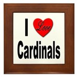 I Love Cardinals Framed Tile