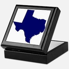 Texas - Blue Keepsake Box