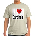 I Love Cardinals (Front) Ash Grey T-Shirt