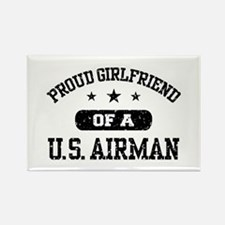 Proud Girlfriend of a US Airman Rectangle Magnet