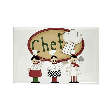 Italian Chefs Rectangle Magnet