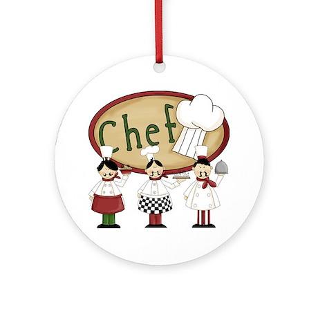 Italian Chefs Ornament (Round)