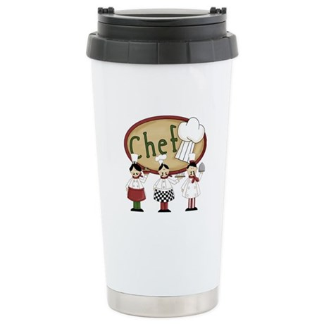 Italian Chefs Stainless Steel Travel Mug