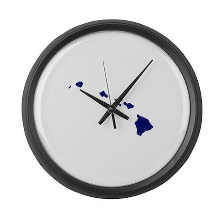 Hawaii - Blue Large Wall Clock