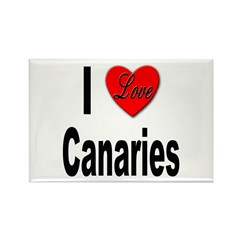 I Love Canaries Rectangle Magnet (10 pack)