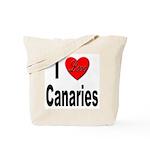 I Love Canaries Tote Bag