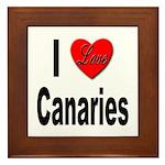 I Love Canaries Framed Tile