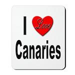 I Love Canaries Mousepad