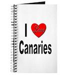 I Love Canaries Journal
