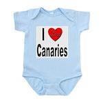 I Love Canaries Infant Creeper