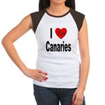 I Love Canaries (Front) Women's Cap Sleeve T-Shirt