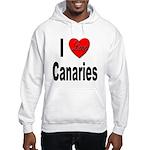 I Love Canaries (Front) Hooded Sweatshirt