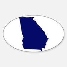 Georgia - Blue Sticker (Oval)