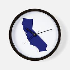 California - Blue Wall Clock