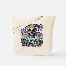 Skullz Blue BG Tote Bag