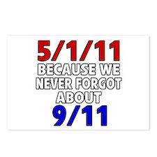 5/1/11 Because We Never Forgot 9/11 Postcards (Pac
