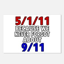 5/1/11 Because We Never Forgot 9/11 Postcards (Pac