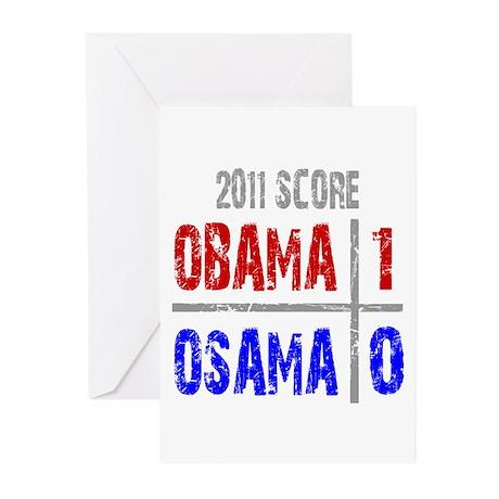 Obama 1 Osama 0 Greeting Cards (Pk of 20)