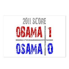 Obama 1 Osama 0 Postcards (Package of 8)