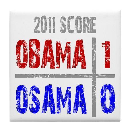 Obama 1 Osama 0 Tile Coaster