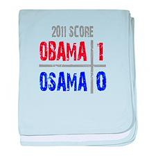 Obama 1 Osama 0 baby blanket