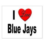 I Love Blue Jays Small Poster