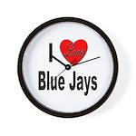 I Love Blue Jays Wall Clock