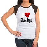 I Love Blue Jays (Front) Women's Cap Sleeve T-Shir
